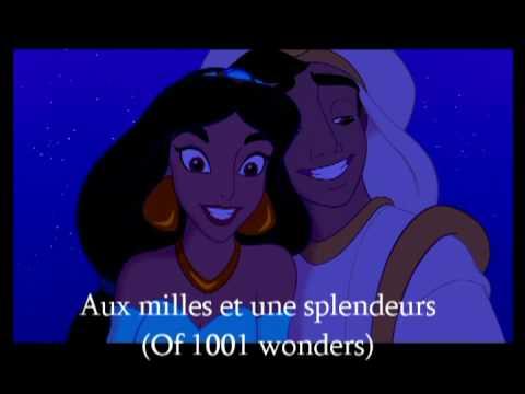 Aladdin – A Whole New World – French + Translation (Ce rêve bleu)