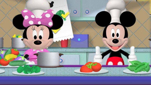 Childrens Play Cooking, Fishing with Mickey & Minnie – Disney Cartoon Game for Childrens